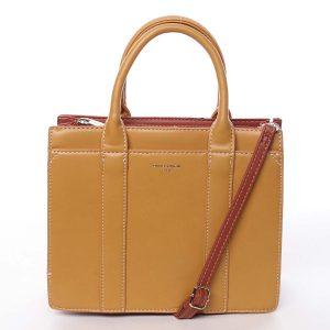 Malá dámská kabelka do ruky žlutá – David Jones Akiba žlutá