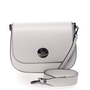 Dámská kožená kabelka světle šedá – ItalY Agustina šedá