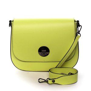 Dámská kožená kabelka zářivě žlutá – ItalY Agustina žlutá