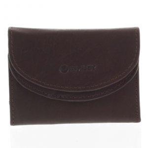 Malá kožená peněženka hnědá – Diviley Akili M hnědá
