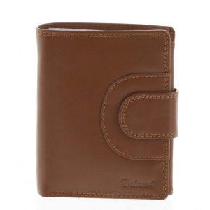 Pánská kožená peněženka světle hnědá – Delami Armando hnědá