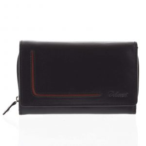Dámská kožená peněženka černá – Delami Nuria černá
