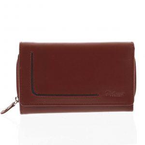 Dámská kožená peněženka červená – Delami Nuria červená