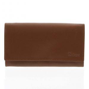 Dámská kožená peněženka světle hnědá – Delami Shelby hnědá
