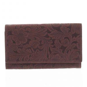 Dámská kožená peněženka bordó – Tomas Imbali vínová