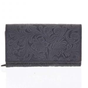 Dámská kožená peněženka černá – Tomas Imbali černá
