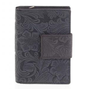 Dámská kožená peněženka antracitová – Tomas Intya černá