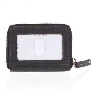 Kožená peněženka černá broušená – Tomas Omcane černá