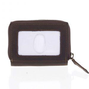 Kožená peněženka tmavě hnědá broušená – Tomas Omcane hnědá