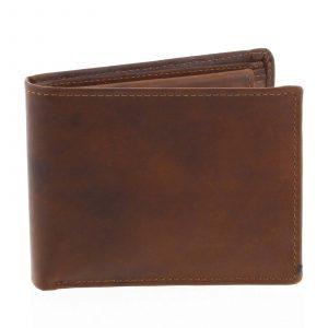 Pánská kožená peněženka hnědá – Tomas Bushel hnědá