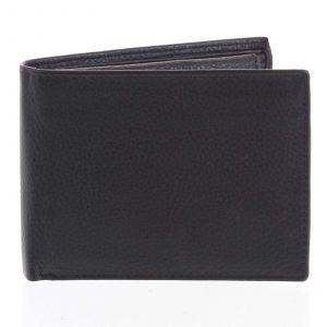 Pánská kožená peněženka černá – Tomas Bushel černá