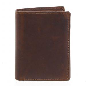 Pánská kožená peněženka hnědá – Tomas Lelezi hnědá