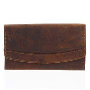 Dámská kožená peněženka hnědá – Tomas Slat hnědá