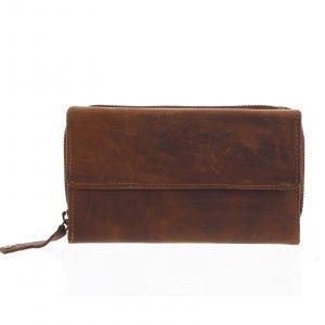 Dámská kožená peněženka hnědá – Tomas Menmaiya hnědá