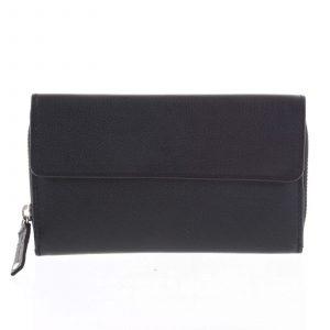 Dámská kožená peněženka černá – Tomas Menmaiya černá