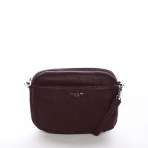 Malá dámská crossbody kabelka tmavě fialová – David Jones Berivan fialová