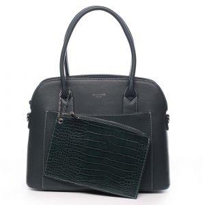 Dámská kabelka tmavě zelená – David Jones Caleed zelená