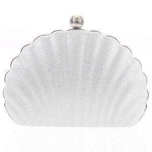 Dámské psaníčko stříbrné – Michelle Moon Seashell stříbrná
