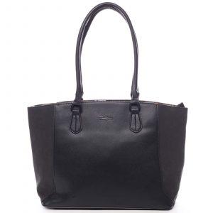 Velká dámská kabelka přes rameno černá – David Jones Matter černá