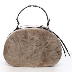 Dámská kožešinová kabelka meruňková – MARIA C Hasiel béžová
