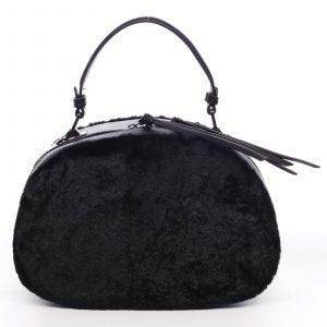 Dámská kožešinová kabelka černá – MARIA C Hasiel černá
