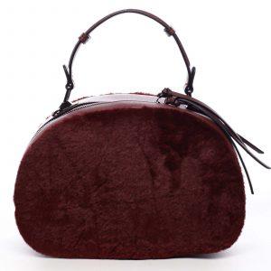 Dámská kožešinová kabelka vínová – MARIA C Hasiel vínová