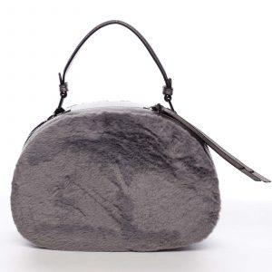 Dámská kožešinová kabelka šedá – MARIA C Hasiel šedá