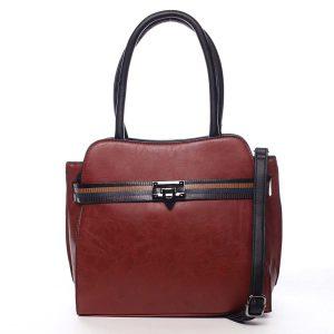 Dámská kabelka přes rameno červená – Maria C Shelsia červená