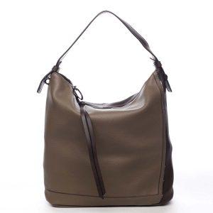 Velká dámská kabelka přes rameno taupe – Maria C Perola taupe