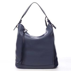 Velká dámská kabelka přes rameno modrá – Maria C Perola modrá