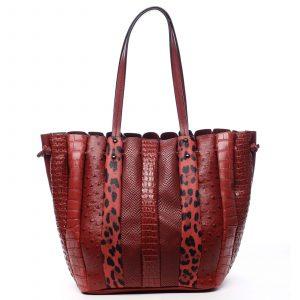 Dámská kabelka přes rameno červená – Dudlin Tola červená