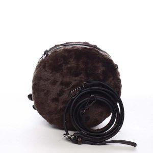 Dámská kožešinová kabelka kávově hnědá – Maria C Cheer hnědá