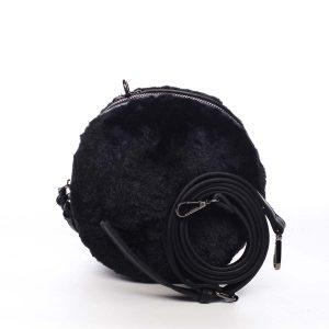 Dámská kožešinová kabelka černá – Maria C Cheer černá