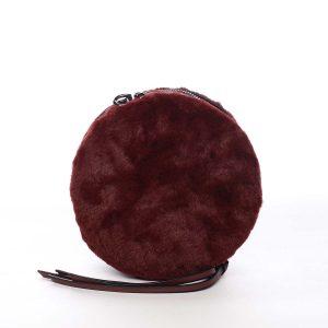 Dámská kožešinová kabelka vínová – Maria C Cheer vínová