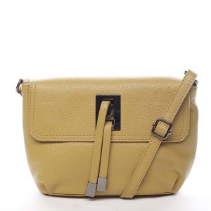 Dámská kožená crossbody kabelka žlutá – ItalY Porta žlutá