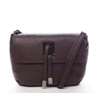 Dámská kožená crossbody kabelka tmavě fialová – ItalY Porta fialová