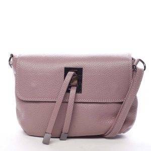 Dámská kožená crossbody kabelka růžová – ItalY Porta růžová
