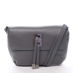 Dámská kožená crossbody kabelka šedá – ItalY Porta šedá