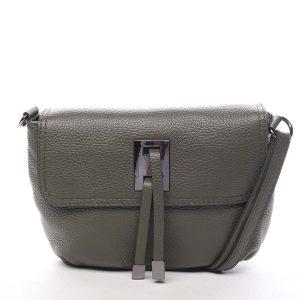 Dámská kožená crossbody kabelka olivová – ItalY Porta zelená
