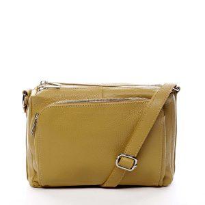Dámská kožená crossbody kabelka žlutá – ItalY Bandit žlutá