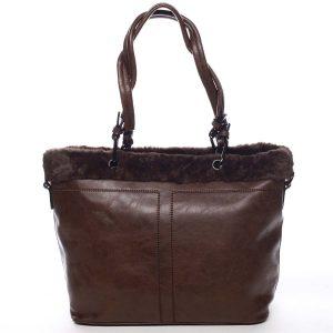 Dámská kabelka přes rameno kávově hnědá – Maria C Lyra hnědá