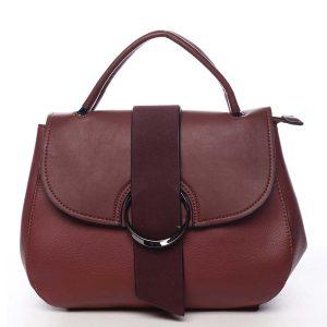 Jedinečná dámská kabelka do ruky tmavě červená – Maria C Laurel červená