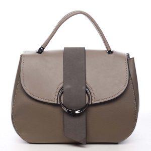 Jedinečná dámská kabelka do ruky taupe – Maria C Laurel taupe