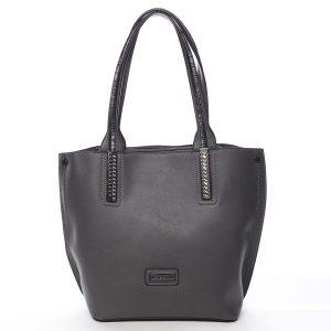 Dámská kabelka přes rameno šedá – Pierre Cardin Yanna černá