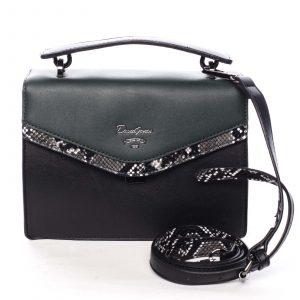 Dámská kabelka do ruky černo zelená – David Jones Scarlett zelená