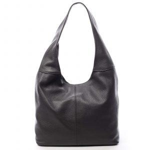 Dámská kožená kabelka přes rameno tmavě šedá – ItalY SkyFull šedá