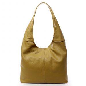Dámská kožená kabelka přes rameno žlutá – ItalY SkyFull žlutá