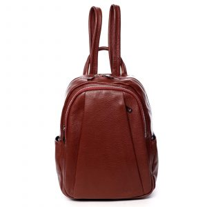 Dámský kožený batoh červený – ItalY Celestia červená