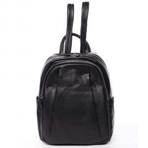 Dámský kožený batoh černý – ItalY Celestia černá
