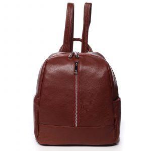 Dámský kožený batoh červený – ItalY Lissetta červená
